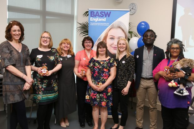 Social workers and people with lived experience of learning disability gathered together