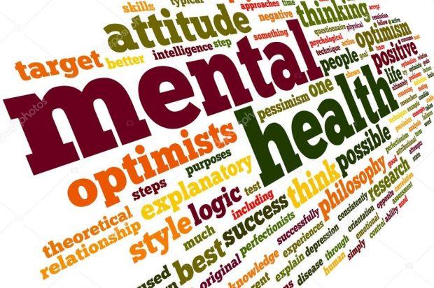 word cloud of mental health phrases