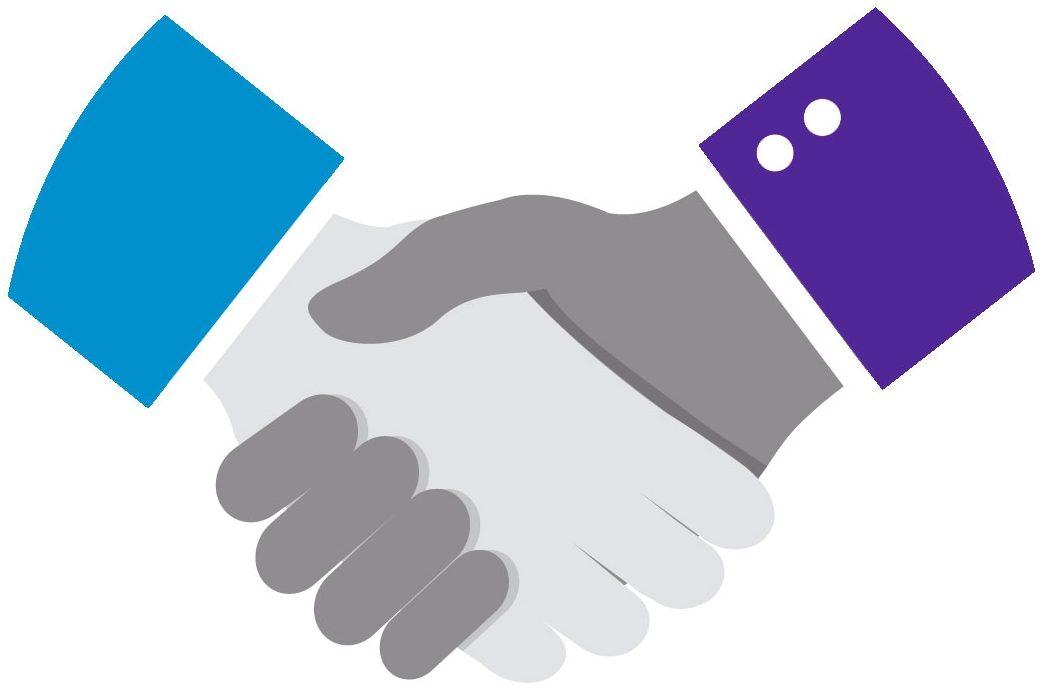 a hand shake signifying partnership