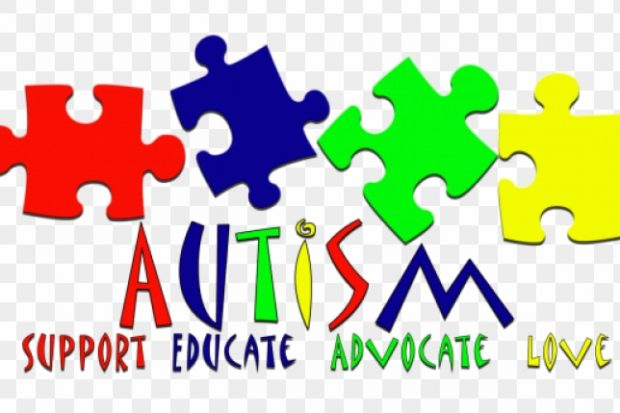 Autism values spelt out: support, educate, advocate, love