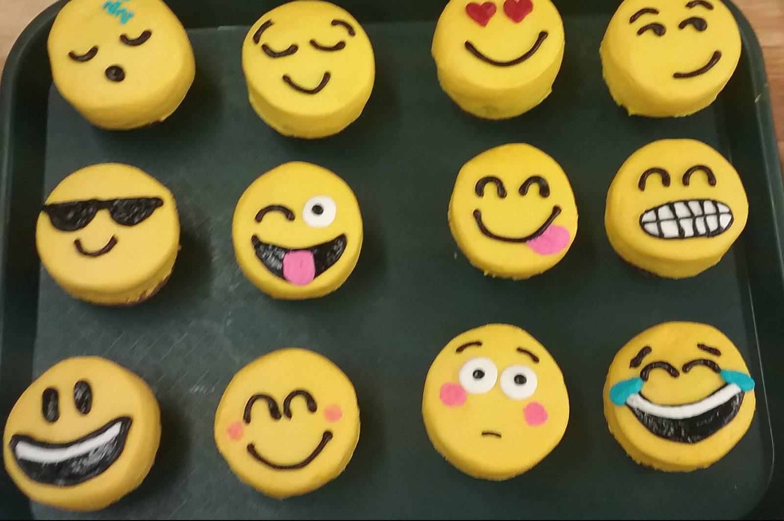 Emojis showing range of emotions: happy, sad, angry etc.